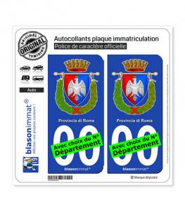 Rome Province - Armoiries (Italie) | Autocollant plaque immatriculation