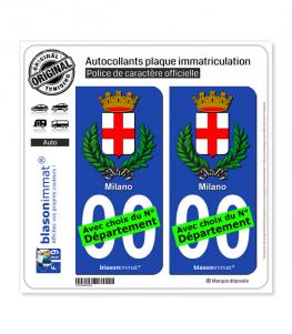 Milan Ville - Armoiries | Autocollant plaque immatriculation