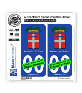 Turin Province - Armoiries (Italie) | Autocollant plaque immatriculation