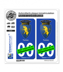 Turin Ville - Armoiries | Autocollant plaque immatriculation