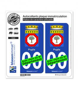 Pouilles Région - Armoiries (Italie) | Autocollant plaque immatriculation