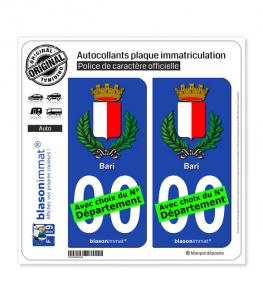 Bari Ville - Armoiries | Autocollant plaque immatriculation