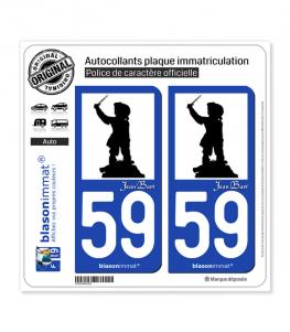 59 Jean Bart - Silouhette | Autocollant plaque immatriculation