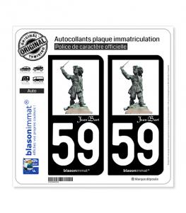 Jean Bart - Statue | Autocollant plaque immatriculation