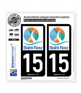 15 Saint-Flour - Agglo | Autocollant plaque immatriculation