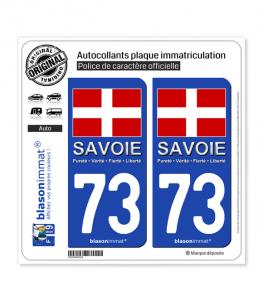 73 Savoie - Drapeau | Autocollant et plaque immatriculation