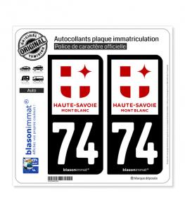 74 Haute-Savoie - Tourisme   Autocollant plaque immatriculation
