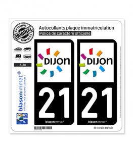 21 Dijon - Agglo | Autocollant plaque immatriculation