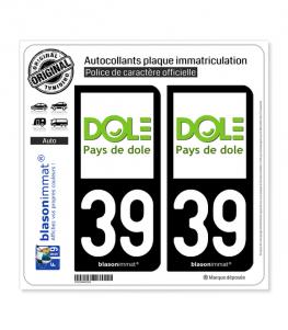 39 Dole - Tourisme | Autocollant plaque immatriculation