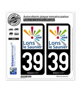 39 Lons-le-Saunier - Agglo | Autocollant plaque immatriculation