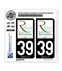 39 Revermont - Jura Pays | Autocollant plaque immatriculation