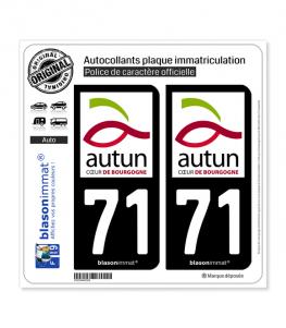 71 Autun - Ville | Autocollant plaque immatriculation