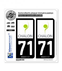 71 Chalon-sur-Saône - Pays | Autocollant plaque immatriculation