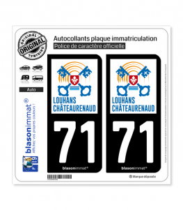 71 Louhans-Châteaurenaud - Ville | Autocollant plaque immatriculation
