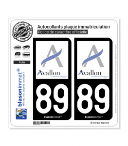 89 Avallon - Ville | Autocollant plaque immatriculation