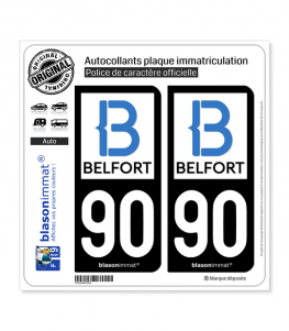 90 Belfort - Agglo | Autocollant plaque immatriculation