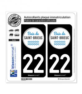 22 Saint-Brieuc - Tourisme | Autocollant plaque immatriculation