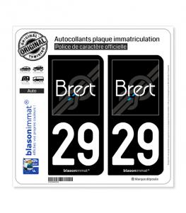 29 Brest - Agglo | Autocollant plaque immatriculation