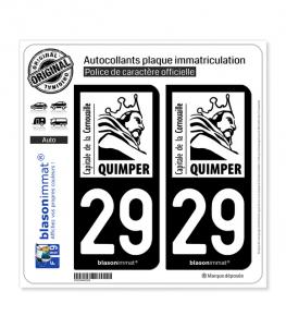 29 Quimper - Tourisme | Autocollant plaque immatriculation