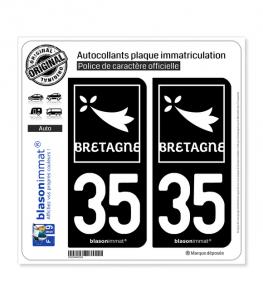 35 Bretagne - Région | Autocollant plaque immatriculation