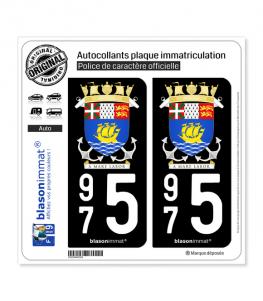 975 Saint-Pierre et Miquelon - Armoiries | Autocollant plaque immatriculation