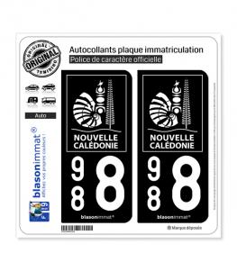 988 Nouvelle-Calédonie - Collectivité | Autocollant plaque immatriculation
