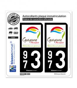 973 Guyane - Tourisme | Autocollant plaque immatriculation