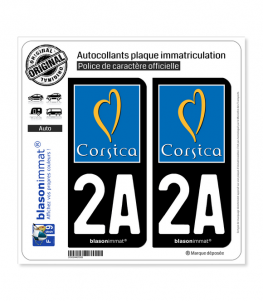 2A Corsica - Tourisme | Autocollant plaque immatriculation
