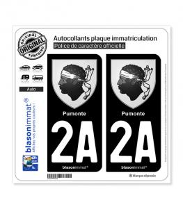 2A Pumonte - Armoiries | Autocollant plaque immatriculation