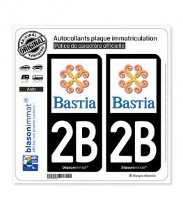 2B Bastia - Ville | Autocollant plaque immatriculation