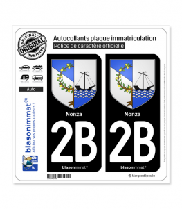2B Nonza - Armoiries | Autocollant plaque immatriculation