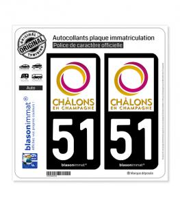 51 Châlons-en-Champagne - Agglo | Autocollant plaque immatriculation