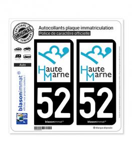 52 Haute-Marne - Département | Autocollant plaque immatriculation