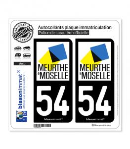 54 Meurthe-et-Moselle - Département | Autocollant plaque immatriculation