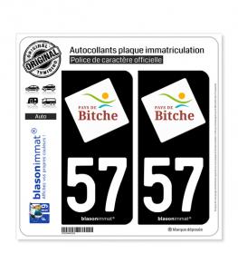 57 Bitche - Tourisme | Autocollant plaque immatriculation
