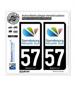 57 Sarrebourg - Agglo | Autocollant plaque immatriculation