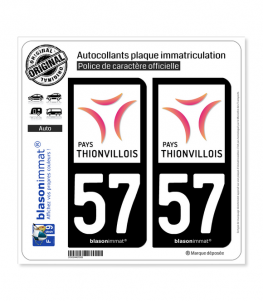 57 Thionville - Tourisme | Autocollant plaque immatriculation
