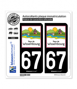 67 Wissembourg - Pays | Autocollant plaque immatriculation