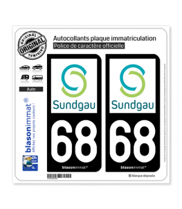 68 Altkirch - Agglo | Autocollant plaque immatriculation