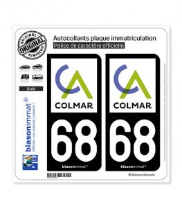 68 Colmar - Agglo | Autocollant plaque immatriculation