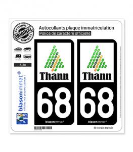 68 Thann - Ville | Autocollant plaque immatriculation