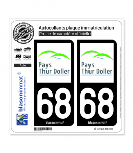68 Thur Doller - Pays | Autocollant plaque immatriculation