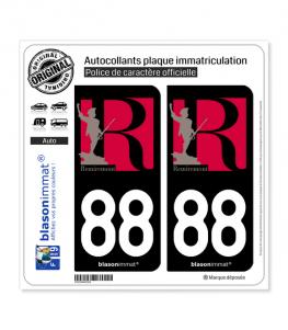 88 Remiremont - Ville | Autocollant plaque immatriculation