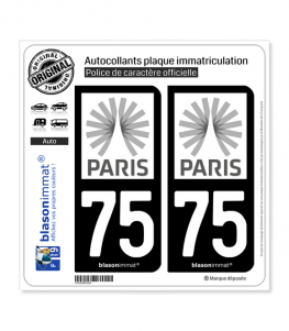 75 Ile-de-France - Tourisme | Autocollant plaque immatriculation