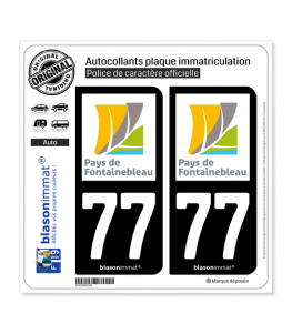 77 Fontainebleau - Agglo | Autocollant plaque immatriculation