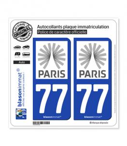 77 Ile-de-France - Tourisme | Autocollant plaque immatriculation