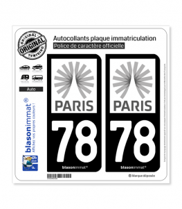 78 Ile-de-France - Tourisme | Autocollant plaque immatriculation