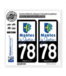 78 Mantes-la-Jolie - Ville | Autocollant plaque immatriculation