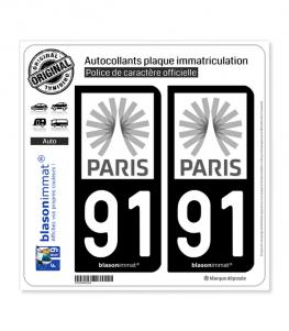 91 Ile-de-France - Tourisme | Autocollant plaque immatriculation