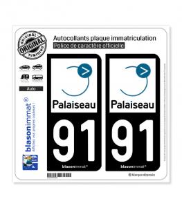 91 Palaiseau - Ville | Autocollant plaque immatriculation